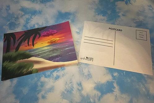 """AnEx """"Shipwrecked"""" Theme Postcard"""