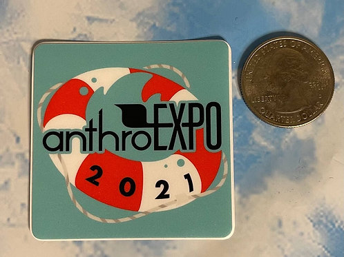 "AnEx ""Shipwrecked"" Logo Sticker"