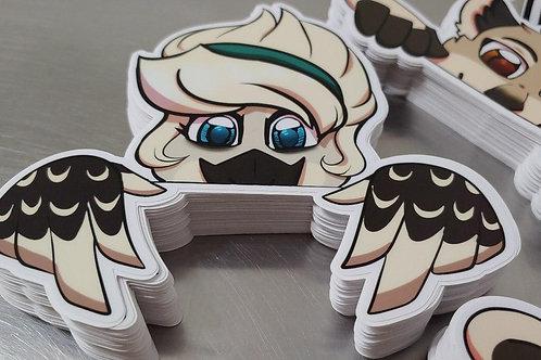 "Andrea ""Peeking"" Vinyl Stickers"