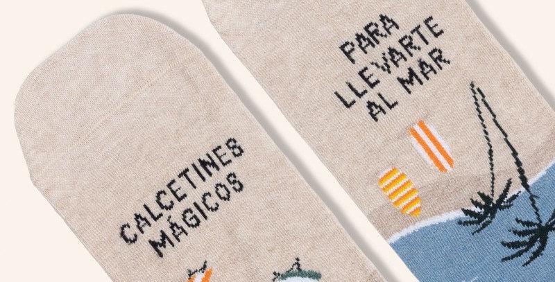 """Calcetines """"Mágicos para llevarte al mar"""""""