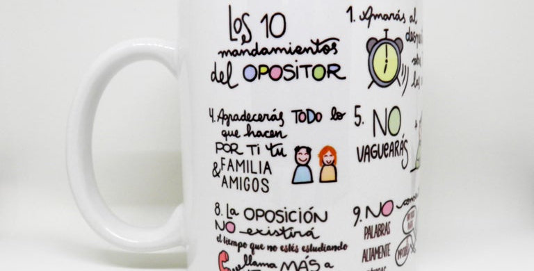 "Taza ""Mandamientos"" QM"