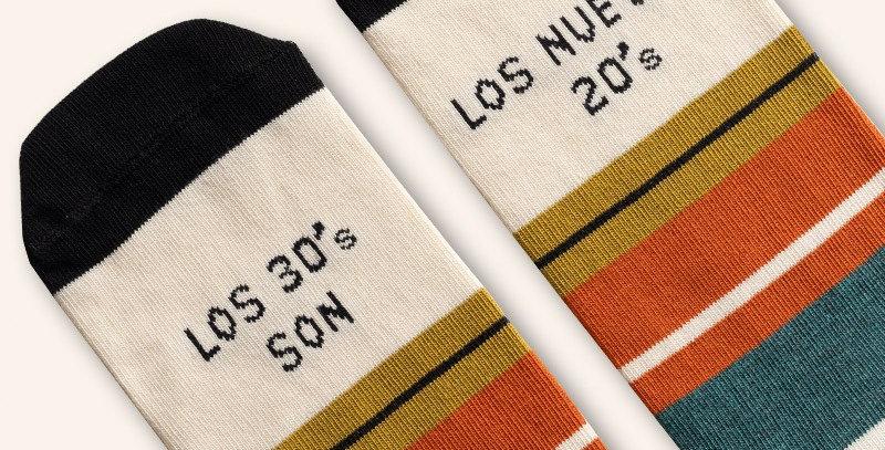 """Calcetines """"Los 30's son los nuevos 20´s"""""""
