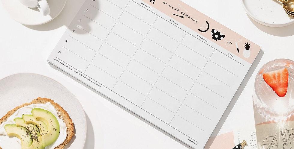 """Planificador """"Menú semanal"""""""