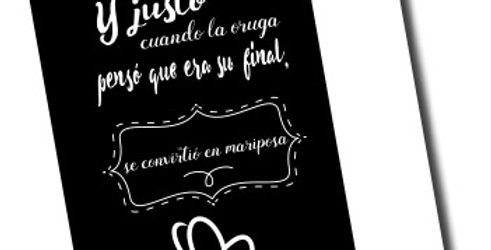 "Libreta ""Mariposa"""