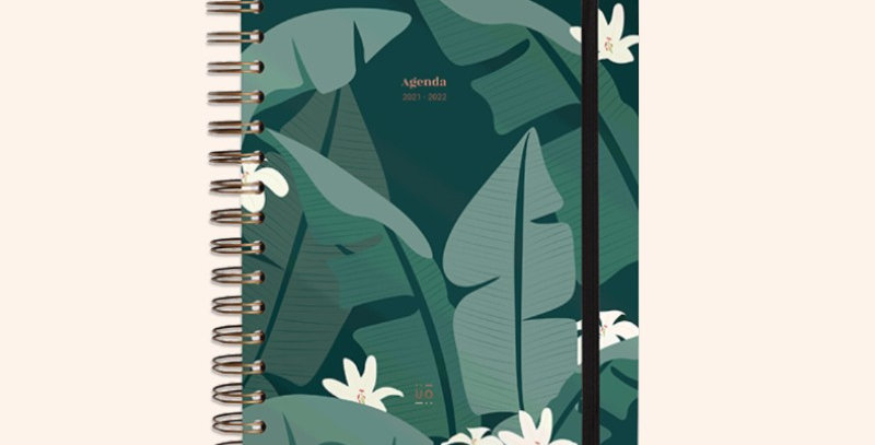 """Agenda escolar """"Tropical"""" Semana vista"""