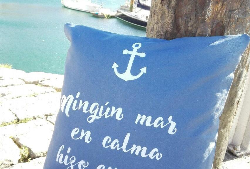 """Funda cojín """"Mar en calma"""""""