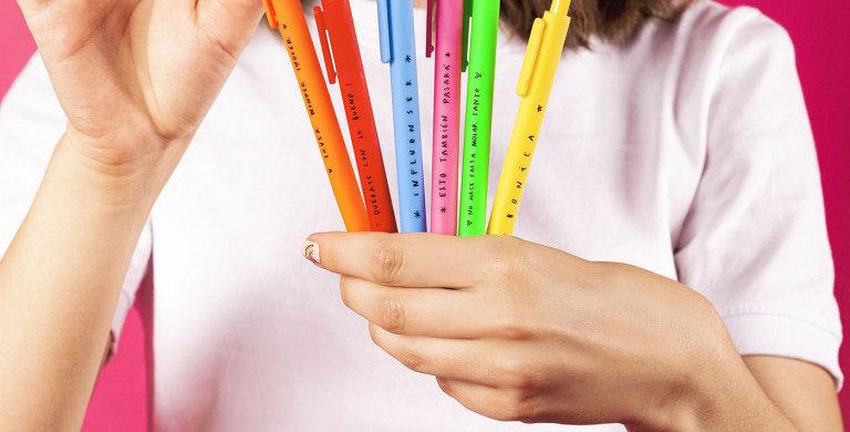"Bolígrafos ""Arcoíris"" Lucía Be"