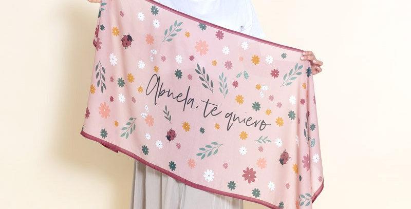 "Pañuelo rectangular ""Abuela, te quiero"""
