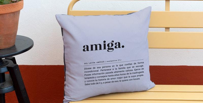 "Funda cojín ""Amiga"" Flores"