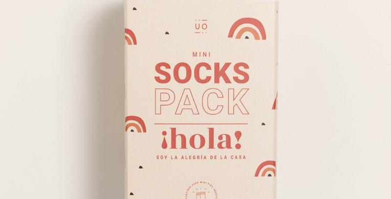 "Pack mini calcetines ""Hola mundo"""