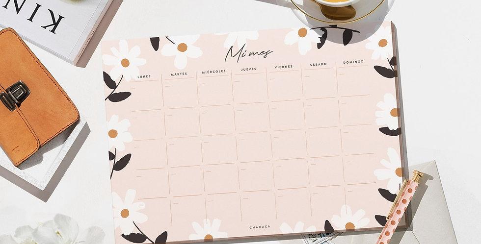 """Planificador mensual """"Flores"""""""
