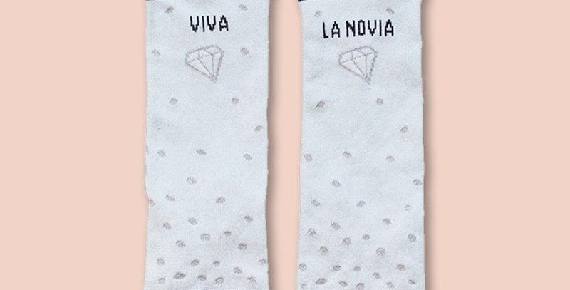"Calcetines ""Viva la novia"""
