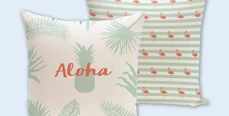 "Funda cojín ""Aloha"""