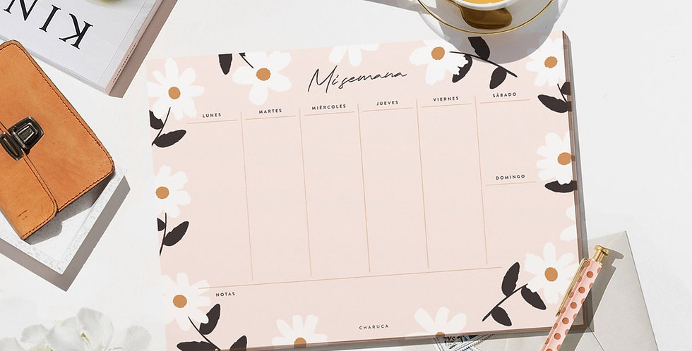 "Planificador semanal ""Flores"""