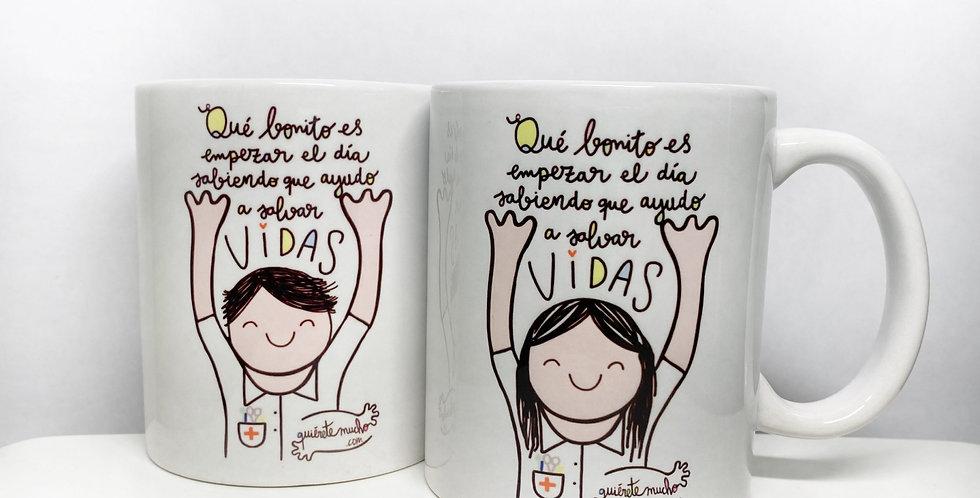 """Taza """"Salvar vidas"""" QM"""
