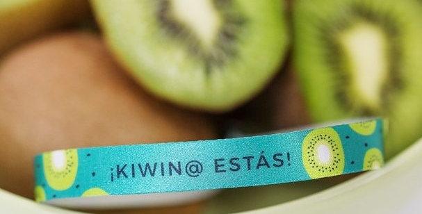 "Pulsera de tela ""Kiwin@ estás"""