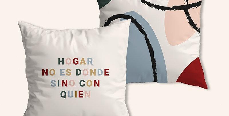 """Funda cojín """"Hogar no es dónde"""""""