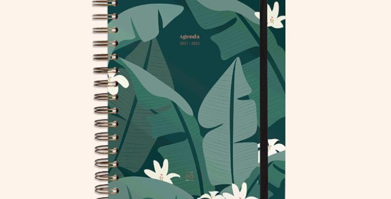 """Agenda escolar """"Tropical"""" Día Página"""