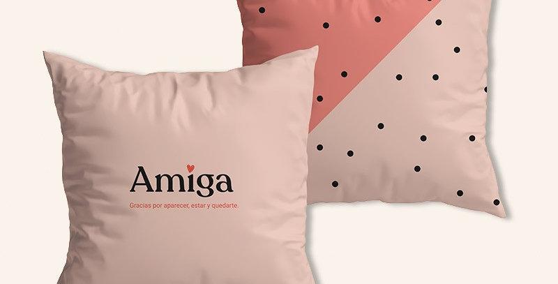 "Funda cojín ""Amiga, gracias"""