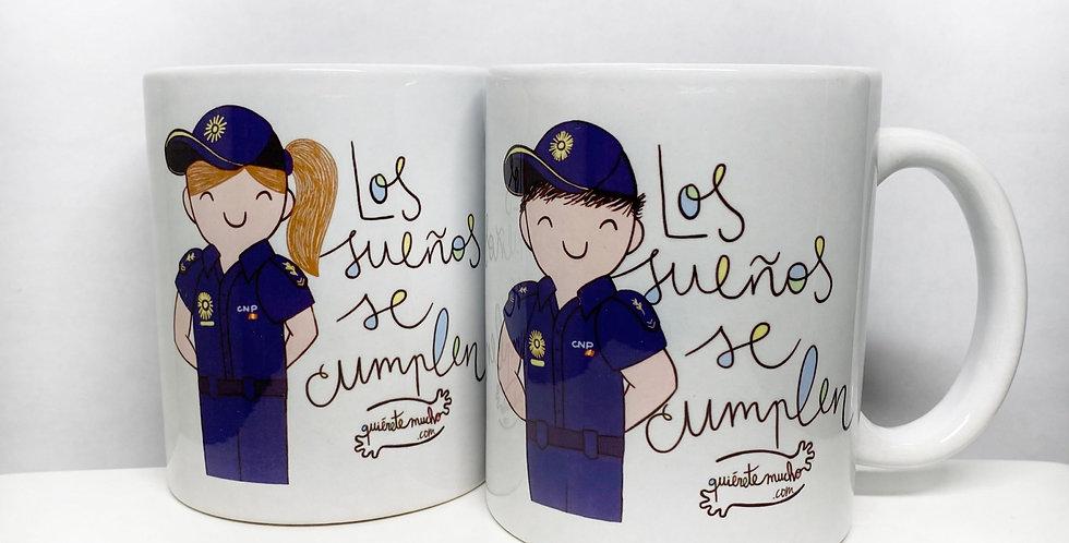 """Taza """"Policía"""" QM"""