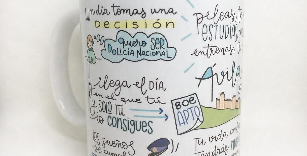 "Taza ""Objetivo Ávila"" QM"