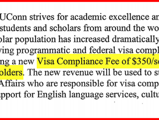 VISA COMPLIANCE FEE (IMPORTANT INFORMATION FOR INTERNATIONAL STUDENTS)