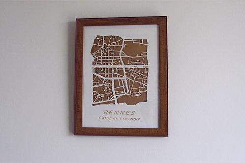 Carte de Rennes