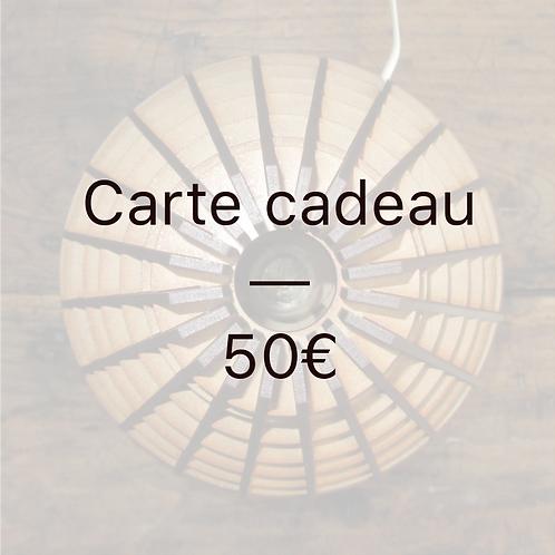 Carte cadeau - 50€