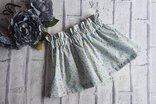 Mint Ditsy Print Skirt
