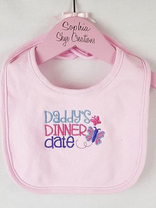 Daddy's Dinner Date Bib
