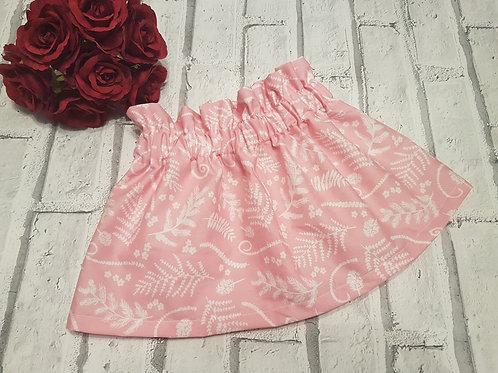 Pink leaf skirt