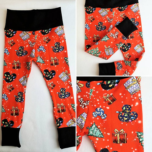 Christmas Mickey leggings