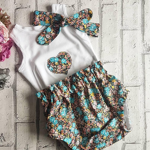 Autumn Love Blue Floral Set