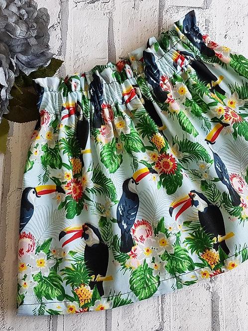 Toucan Print Skirt