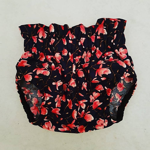 Navy with red floral pattern bloomer
