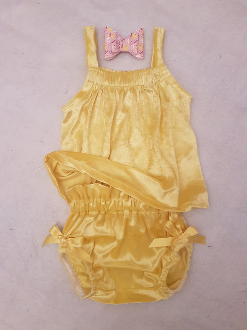 Yellow velvet summer sweetness set