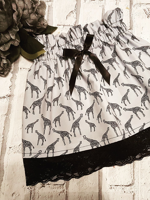 Giraffe 100% cotton skirt