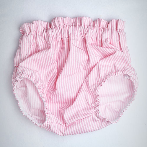 pink pinstriped bloomers
