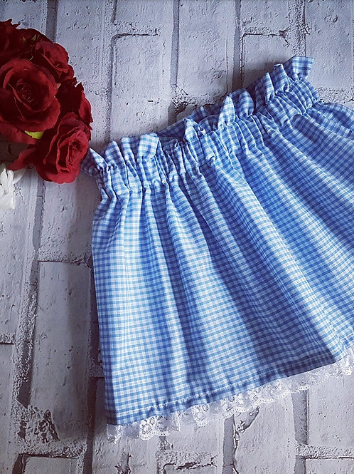 Blue gingham skirt