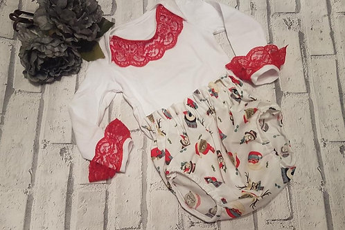 Bear blooms and vest top set