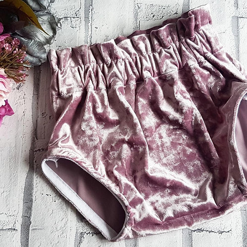 Dusky Lilac Velvet Bloomers