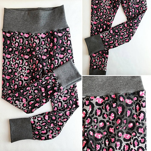 pink/grey leopard leggings