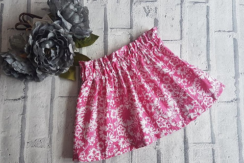 Fuchsia Print Skirt