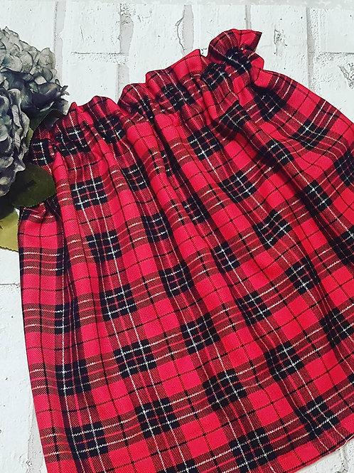 Christmas tartan frilly skirt