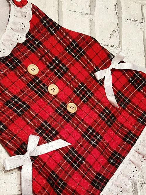 Bel Vestito tartan frills Dress