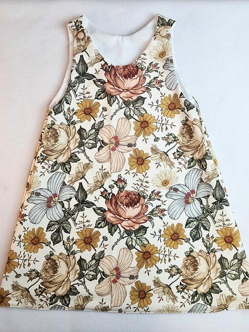 Vinatge floral nude pastel colour floral dress