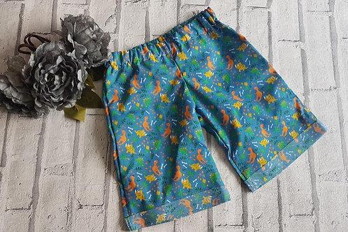 Blue Dinosaur Shorts