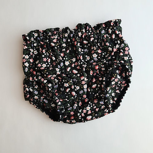 black ditsy floral bloomers