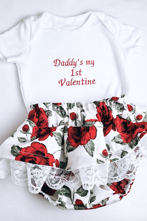 Complete Outfit Peplum Lace Bloomers and Personalised Vest Top
