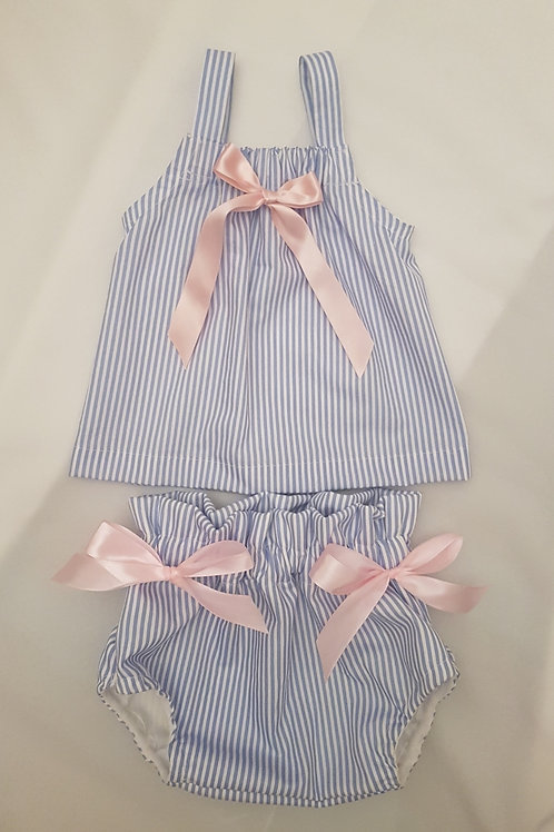 Blue pin stripe set